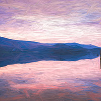 Buy canvas prints of Derwent Water at dusk by Jason Wells