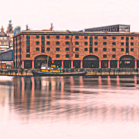 Buy canvas prints of Albert Dock panorama (colour) by Jason Wells