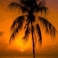 Buy canvas prints of Caribbean sunset by Jason Wells