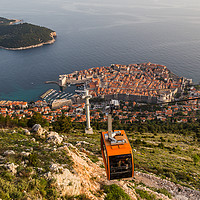 Buy canvas prints of Cable car going down to Dubrovnik by Jason Wells