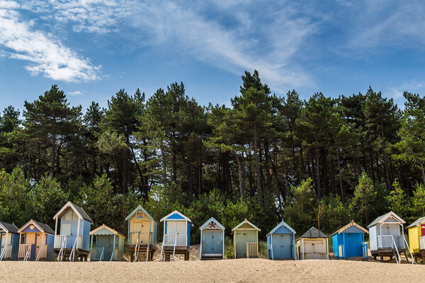 Beach huts at Wells next the Sea Framed Mounted Print by Jason Wells