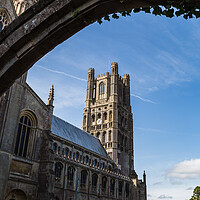 Buy canvas prints of Ely Cathedral through an archway by Jason Wells