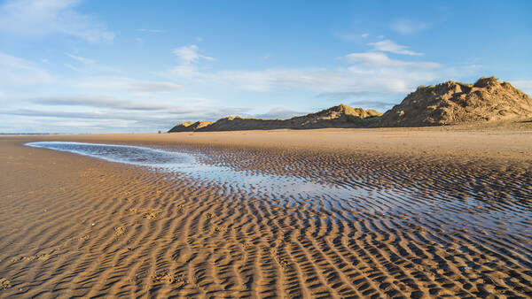 Ripples in the sand on Formby beach Print by Jason Wells