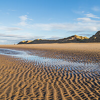 Buy canvas prints of Ripples in the sand on Formby beach by Jason Wells