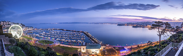 Torquay Harbour Canvas Print by John Fowler