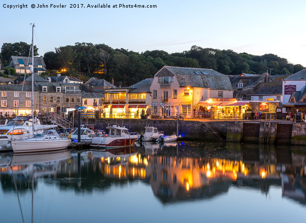 Padstow Harbour. Canvas print by John Fowler
