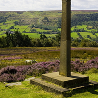 Buy canvas prints of  Rosedale Abbey Millennium Cross by Richard Pinder