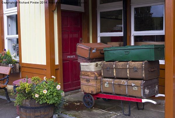 Railway Luggage on the Platform Canvas print by Richard Pinder