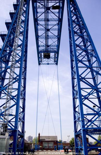 Tees Transporter Bridge Canvas print by Richard Pinder