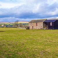 Buy canvas prints of Wensleydale, Stone Barn. North Yorkshire by Richard Pinder