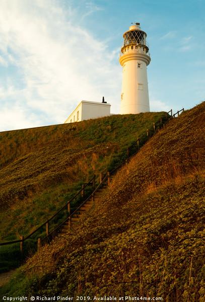 Flamborough Head Lighthouse,  Canvas print by Richard Pinder