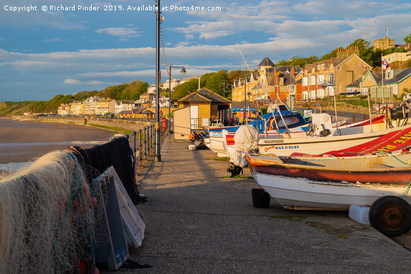 Filey Coble Landing Canvas print by Richard Pinder