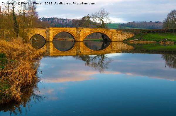 River Derwent, Kirkham Abbey Bridge Canvas print by Richard Pinder