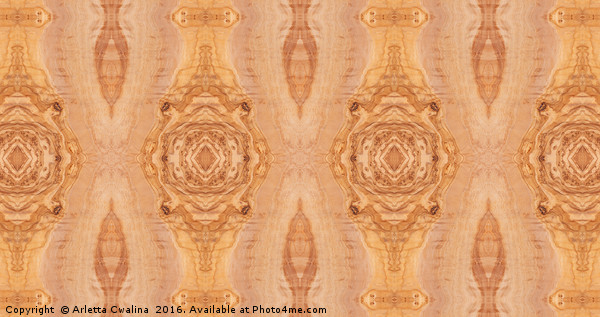 Olive wood surface texture abstract Canvas print by Arletta Cwalina