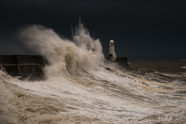 Porthcawl storm Canvas print by Dean Merry