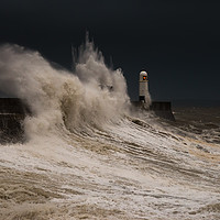 Buy canvas prints of Porthcawl storm by Dean Merry