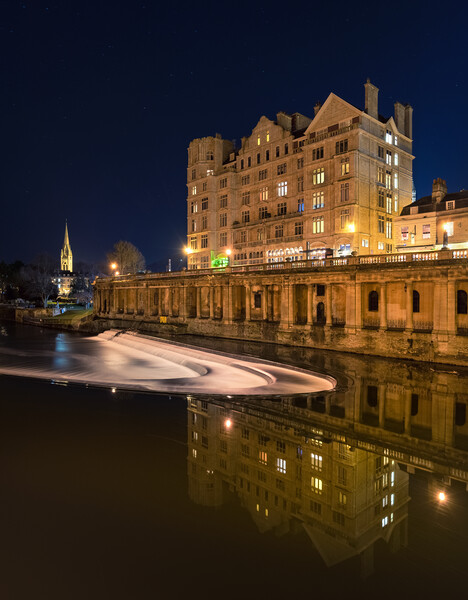 Bath Weir and roman reflections  Print by Dean Merry