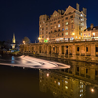 Buy canvas prints of Bath Weir and roman reflections  by Dean Merry