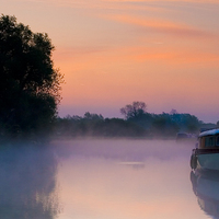 Buy canvas prints of Thames at dawns sunrise by andy myatt