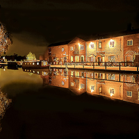 Buy canvas prints of Fradley Canal Junction by Frank Stretton