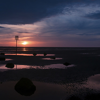 Buy canvas prints of West Kirby Sunset by The Hungry  Aperture
