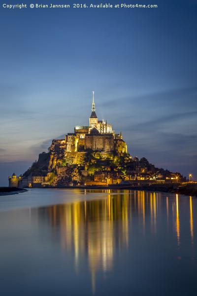 Mont Saint Michel Twilight Canvas print by Brian Jannsen