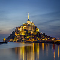 Buy canvas prints of Mont Saint Michel Twilight by Brian Jannsen