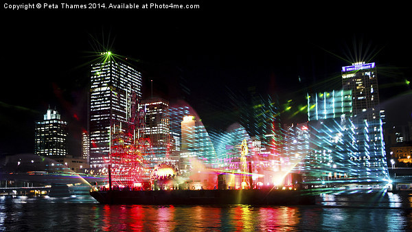 Brisbane City of Lights Canvas print by Peta Thames