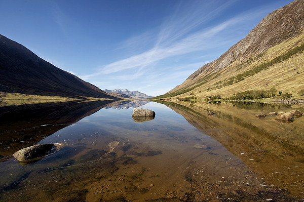 Loch Etive reflections Canvas print by Stephen Taylor
