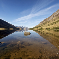 Buy canvas prints of Loch Etive reflections by Stephen Taylor