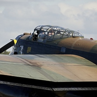 Buy canvas prints of Canadian Lancaster Bomber by Stephen Taylor