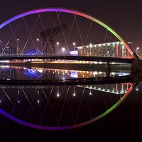 Buy canvas prints of  The Squinty Bridge, Glasgow by Stephen Taylor