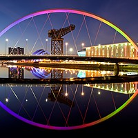 Buy canvas prints of Clyde Arc Glasgow by Stephen Taylor
