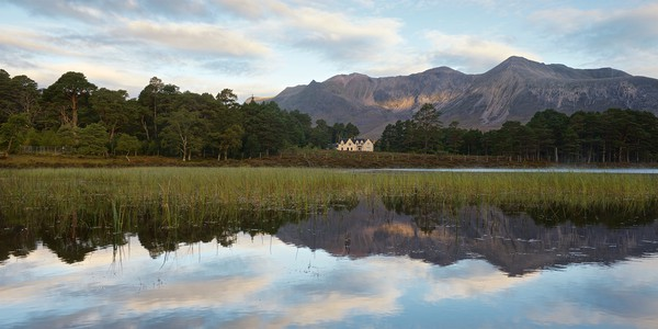 Beinn Eighe and The Coulin Lodge Framed Mounted Print by Stephen Taylor