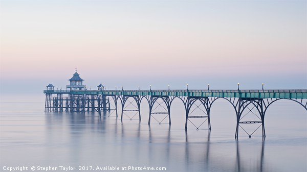 Clevedon Pier Canvas print by Stephen Taylor