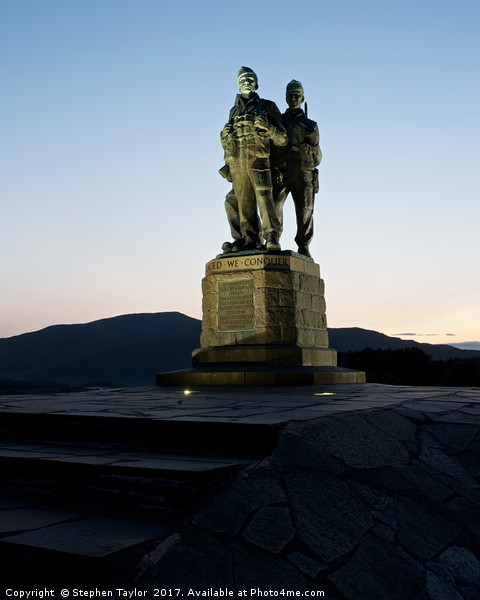 The Commando Memorial Canvas Print by Stephen Taylor