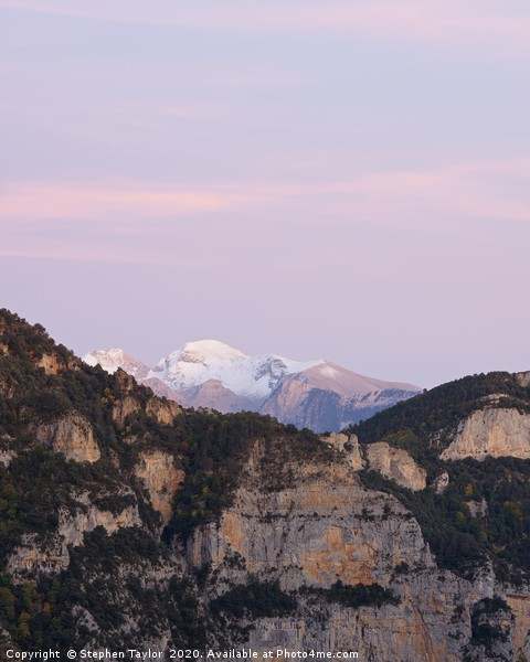 Twilight in the Pyrenees Canvas print by Stephen Taylor