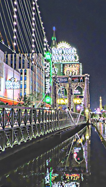 New York New York Las Vegas Framed Mounted Print by Andy Smith