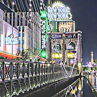Buy canvas prints of New York New York Las Vegas by Andy Smith