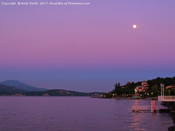 Lake Maggiore Sunset           Canvas print by Andy Smith