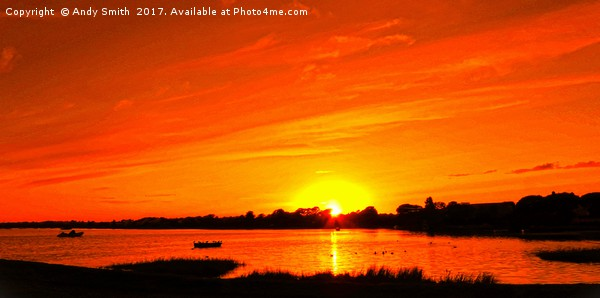 Mudeford  Quay Sunset          Canvas print by Andy Smith