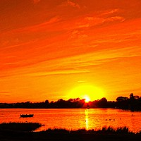 Buy canvas prints of Mudeford  Quay Sunset          by Andy Smith