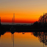 Buy canvas prints of Thurne Sunset Norfolk Broads           by Andy Smith