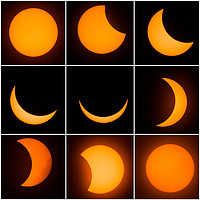 Buy canvas prints of The 9 phases of the solar eclipse by Gregory Culley