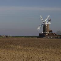 Buy canvas prints of  Cley Windmill north Norfolk  by Sally Lloyd