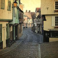 Buy canvas prints of  Elm Hill Norwich by Sally Lloyd