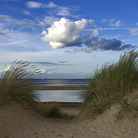 Buy canvas prints of Between the Dunes by Sally Lloyd