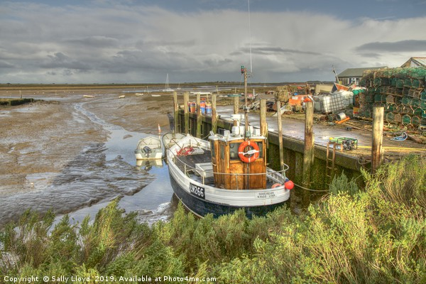 Brancaster Staithe north Norfolk Framed Mounted Print by Sally Lloyd