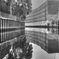 Buy canvas prints of Norwich Art School on the River Wensum by Sally Lloyd