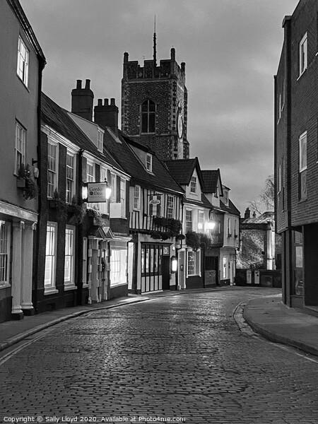 Princes Street Norwich  Framed Mounted Print by Sally Lloyd
